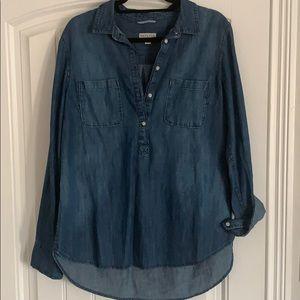 Merona Denim ½ button up shirt - size large